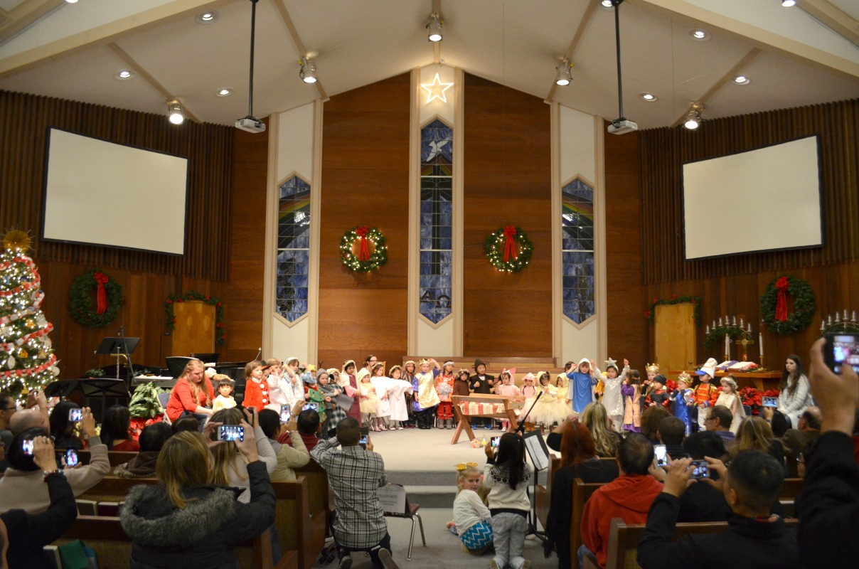 Joy Preschool Dublin california Christmas Costume Program John Knox Church